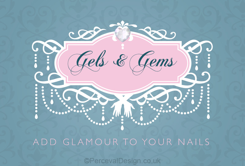 Logo design for Gels and Gems Nail Saloon