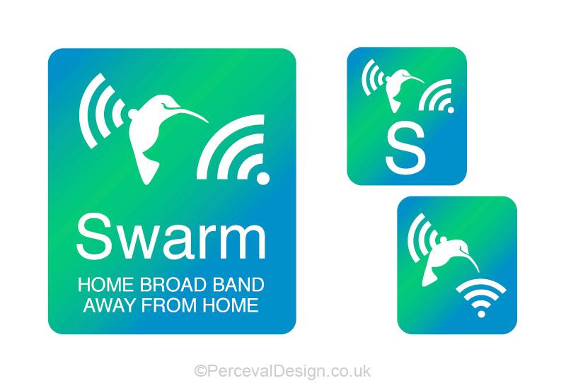 Logo for Swarm, broadband service provider