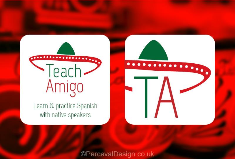 Logo for Teach Amigo, Spanish language learning app.